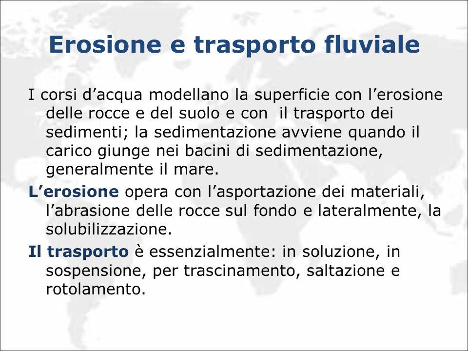 Erosione e trasporto fluviale
