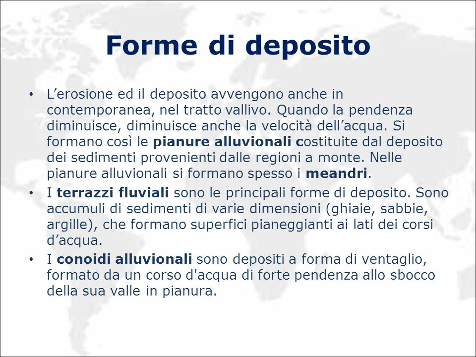 Forme di deposito
