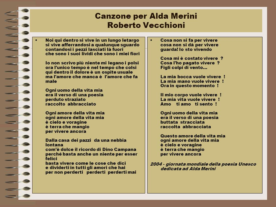 Canzone per Alda Merini Roberto Vecchioni