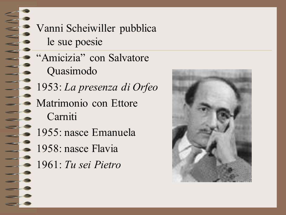 Vanni Scheiwiller pubblica le sue poesie
