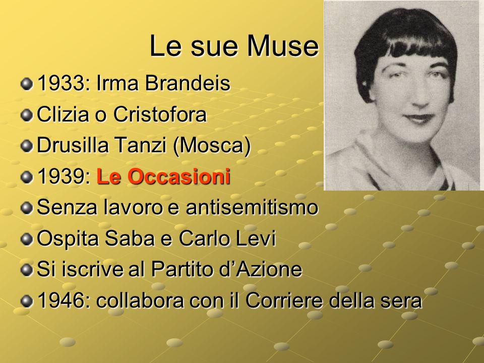 Le sue Muse 1933: Irma Brandeis Clizia o Cristofora