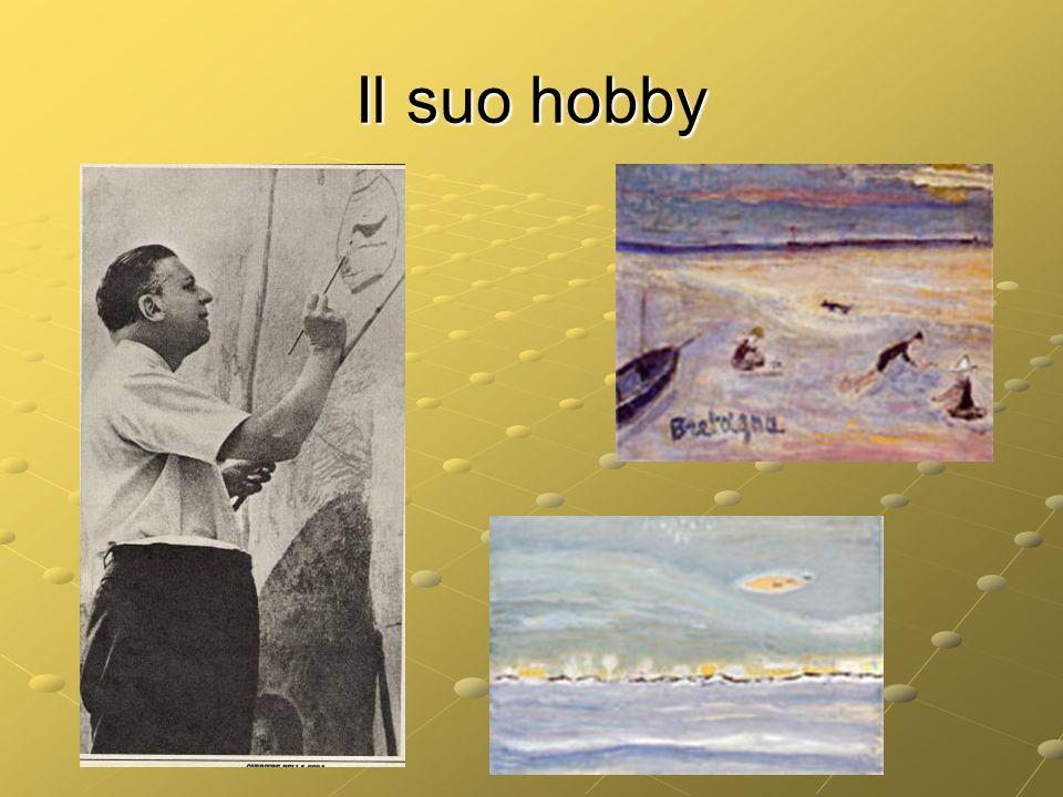 Il suo hobby