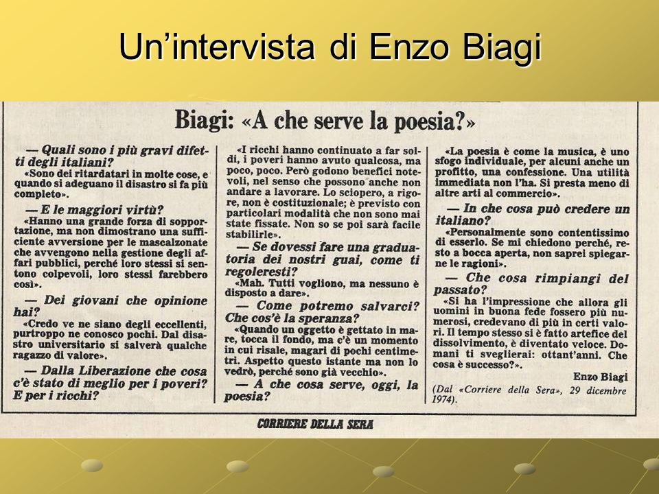 Un'intervista di Enzo Biagi