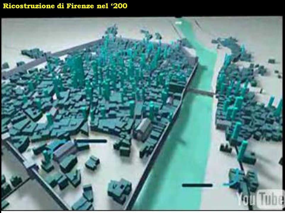 Ricostruzione di Firenze nel '200