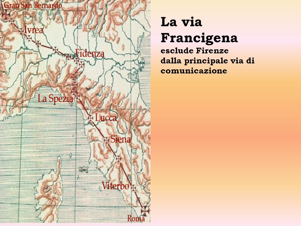 La via Francigena esclude Firenze