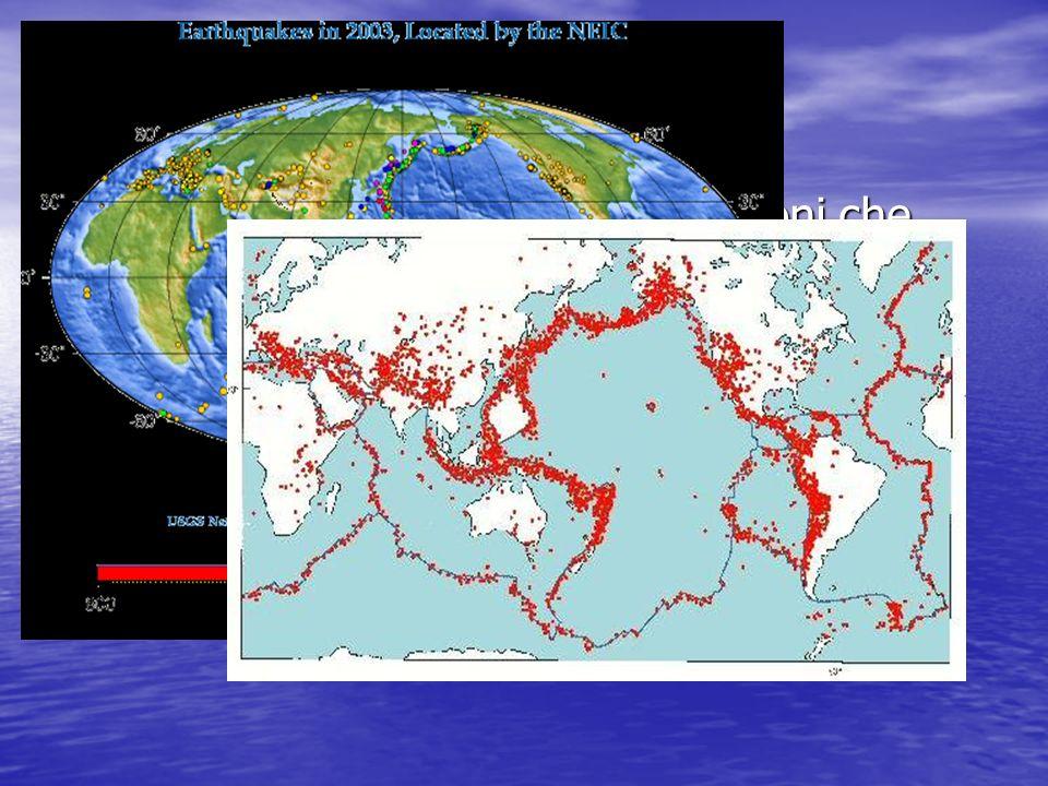 La distribuzione Una delle più importanti spiegazioni che questa teoria riesce a fornire è la distribuzione dei terremoti e dei vulcani sulla Terra.