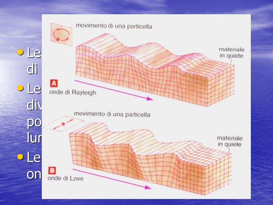 Le onde sismiche Le onde sismiche si dividono in onde di volume e in onde di superficie.