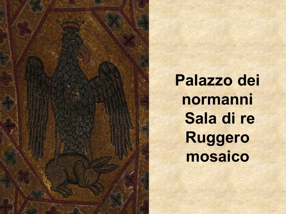 Palazzo dei normanni Sala di re Ruggero mosaico
