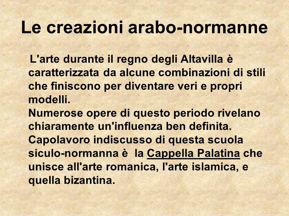 Le creazioni arabo-normanne