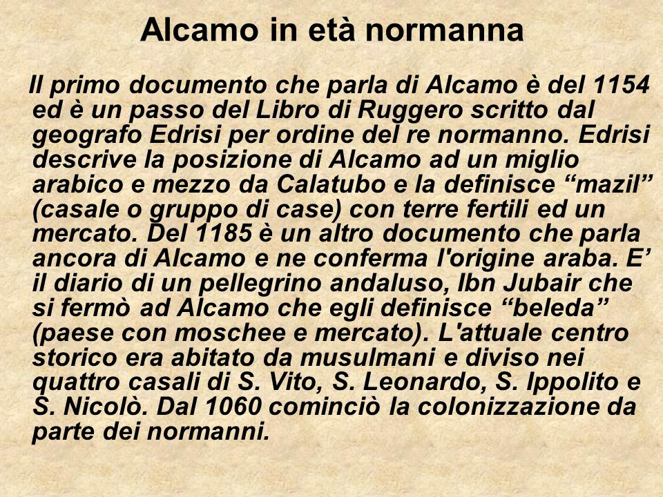 Alcamo in età normanna