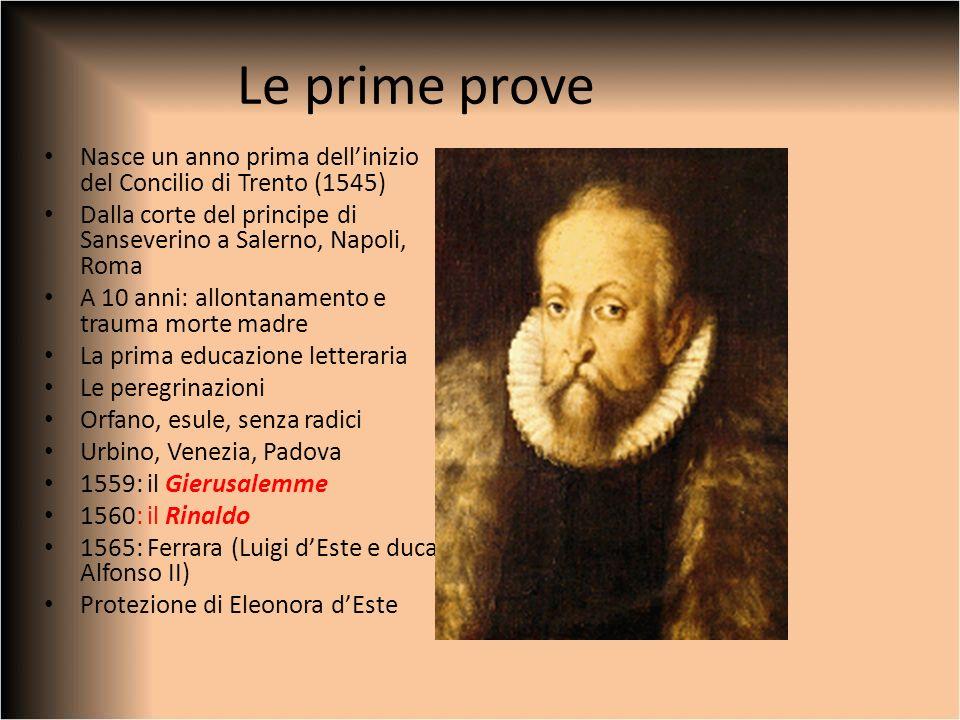 Le prime prove Nasce un anno prima dell'inizio del Concilio di Trento (1545) Dalla corte del principe di Sanseverino a Salerno, Napoli, Roma.