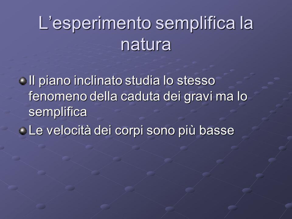 L'esperimento semplifica la natura