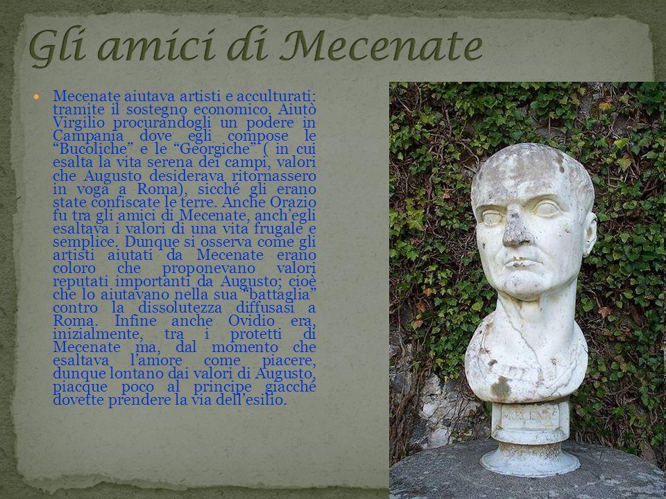 Mecenate aiutava artisti e acculturati: tramite il sostegno economico
