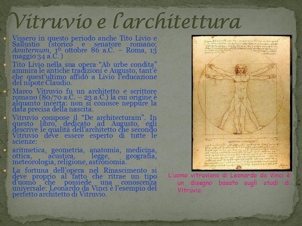 Vitruvio e l'architettura