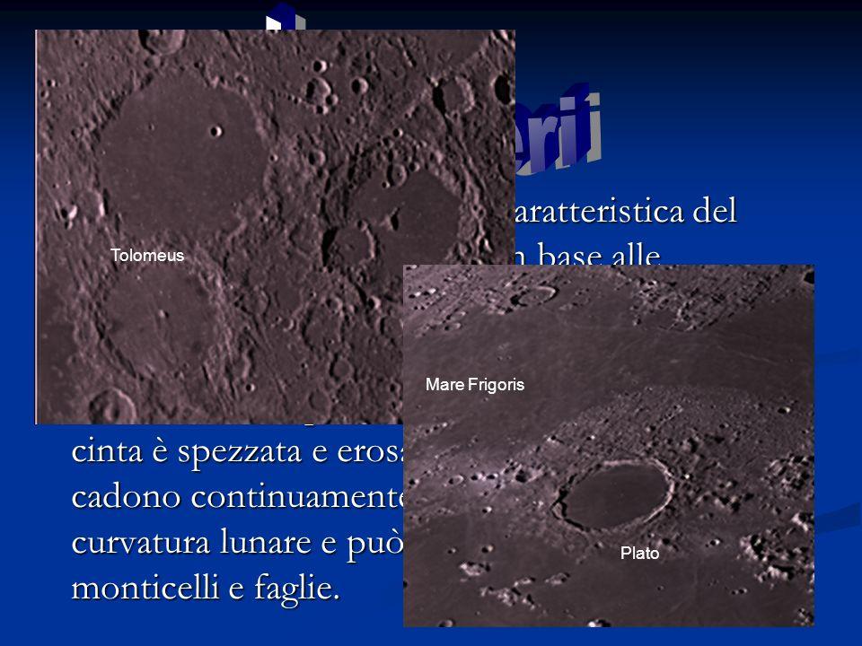 I Crateri I crateri sono un importante caratteristica del suolo lunare e si classificano in base alle dimensioni.