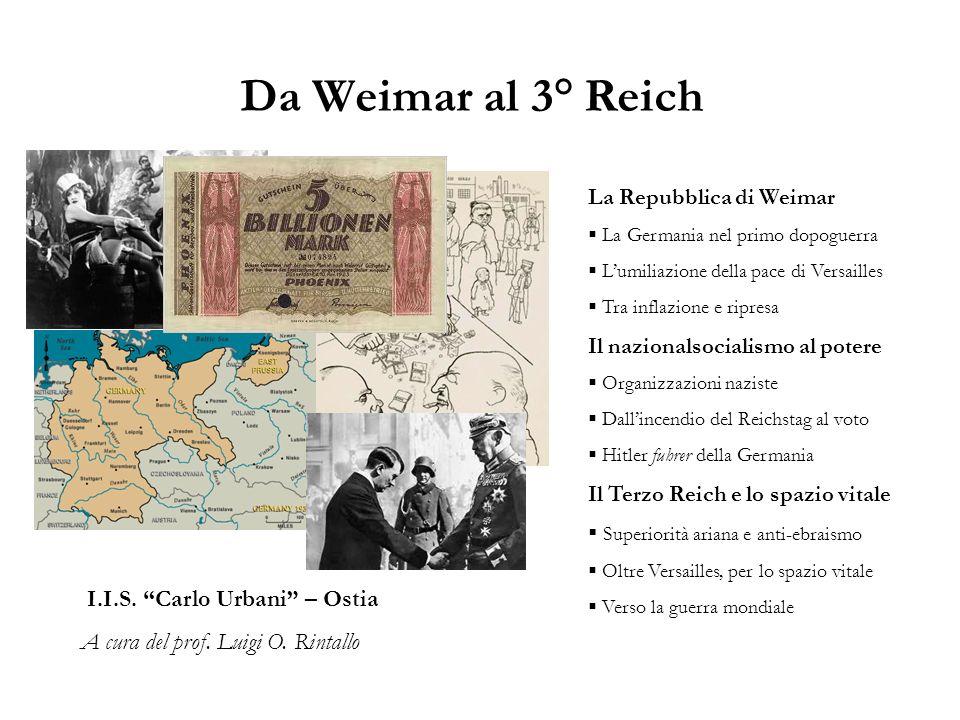 Da Weimar al 3° Reich I.I.S. Carlo Urbani – Ostia