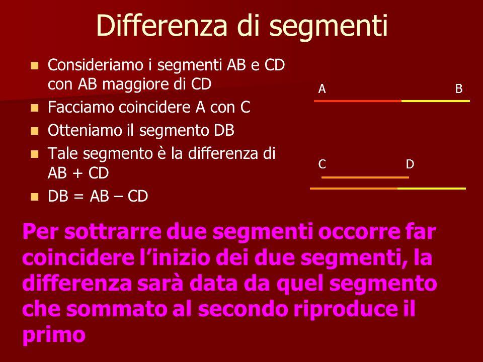 Differenza di segmenti
