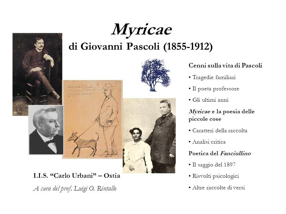 Myricae di Giovanni Pascoli (1855-1912)