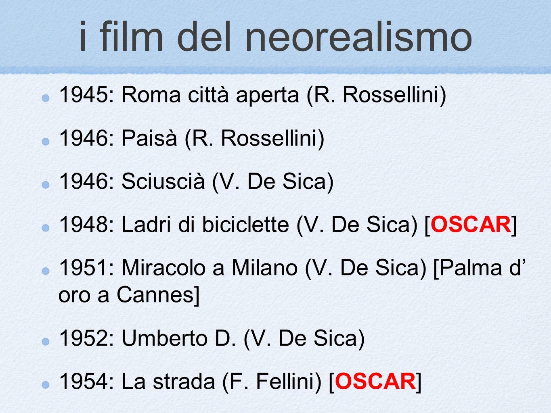 i film del neorealismo 1945: Roma città aperta (R. Rossellini)