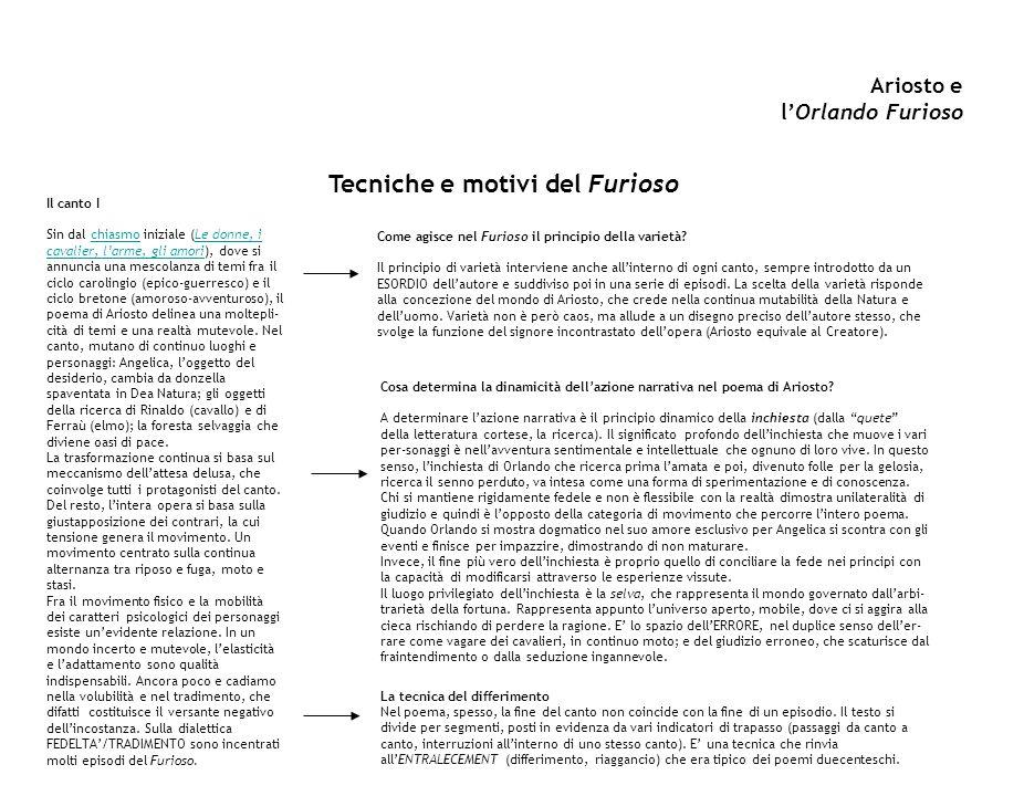 Ariosto e l'Orlando Furioso