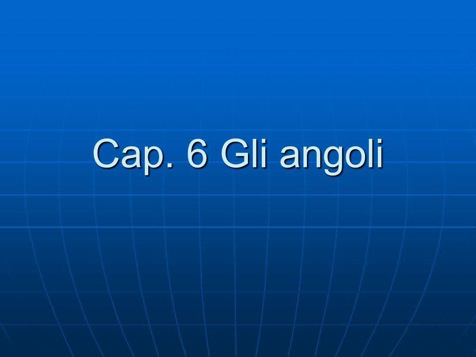 Cap. 6 Gli angoli