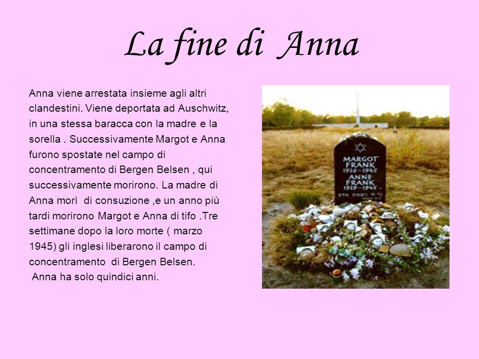 La fine di Anna Anna viene arrestata insieme agli altri