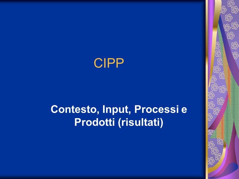 Contesto, Input, Processi e Prodotti (risultati)