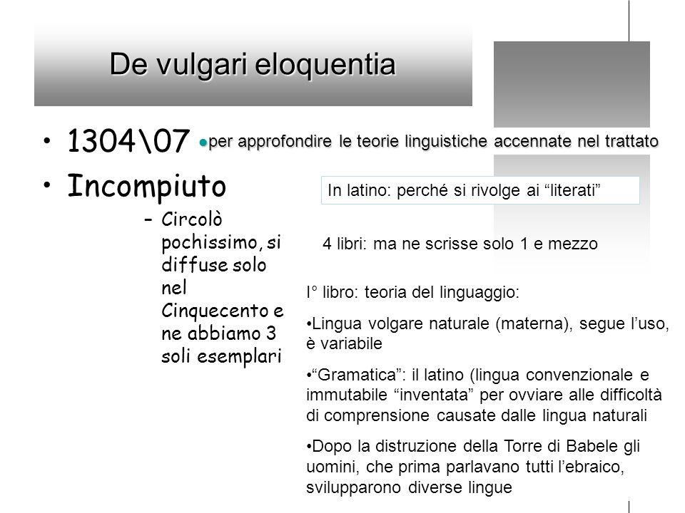 De vulgari eloquentia 1304\07 Incompiuto