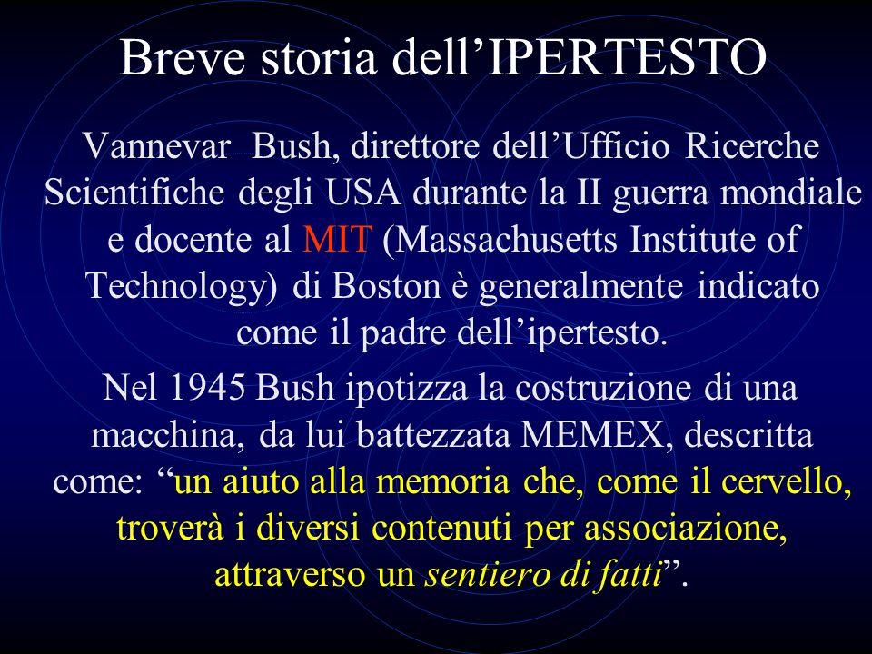 Breve storia dell'IPERTESTO