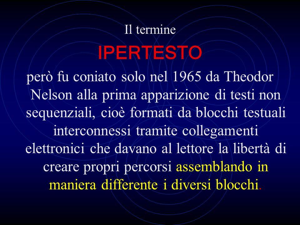 Il termine IPERTESTO.