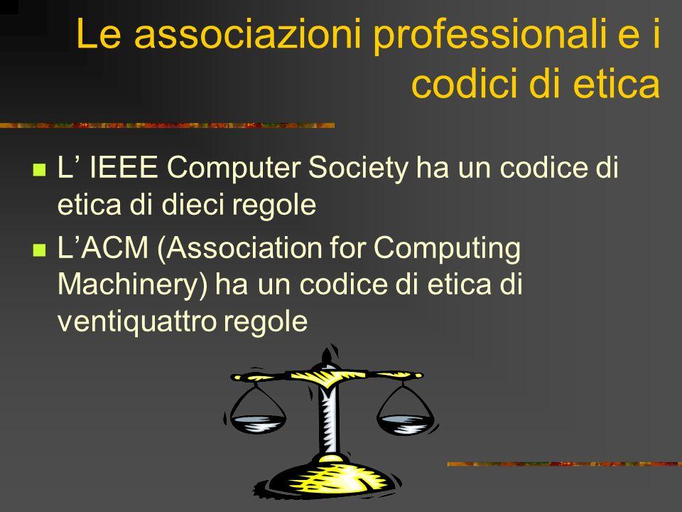 Le associazioni professionali e i codici di etica