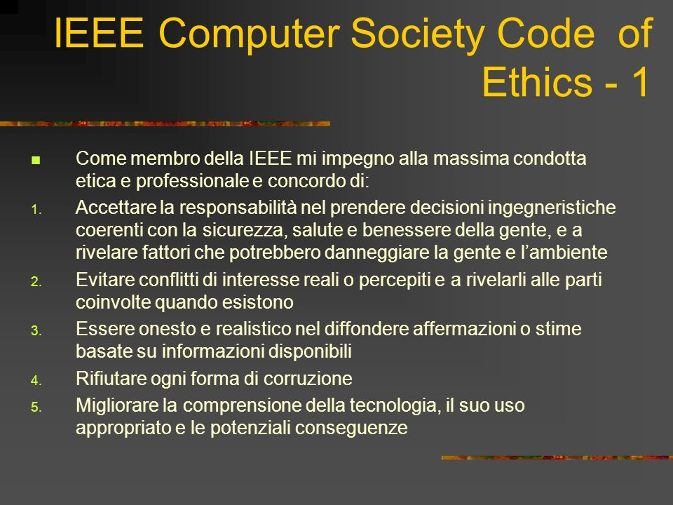 IEEE Computer Society Code of Ethics - 1