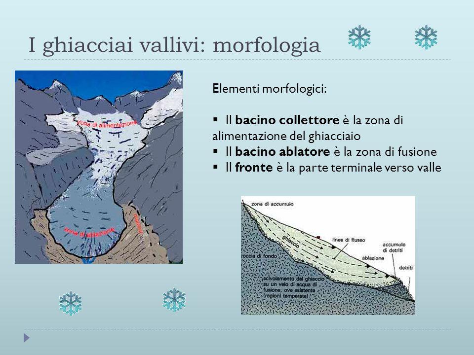 I ghiacciai vallivi: morfologia