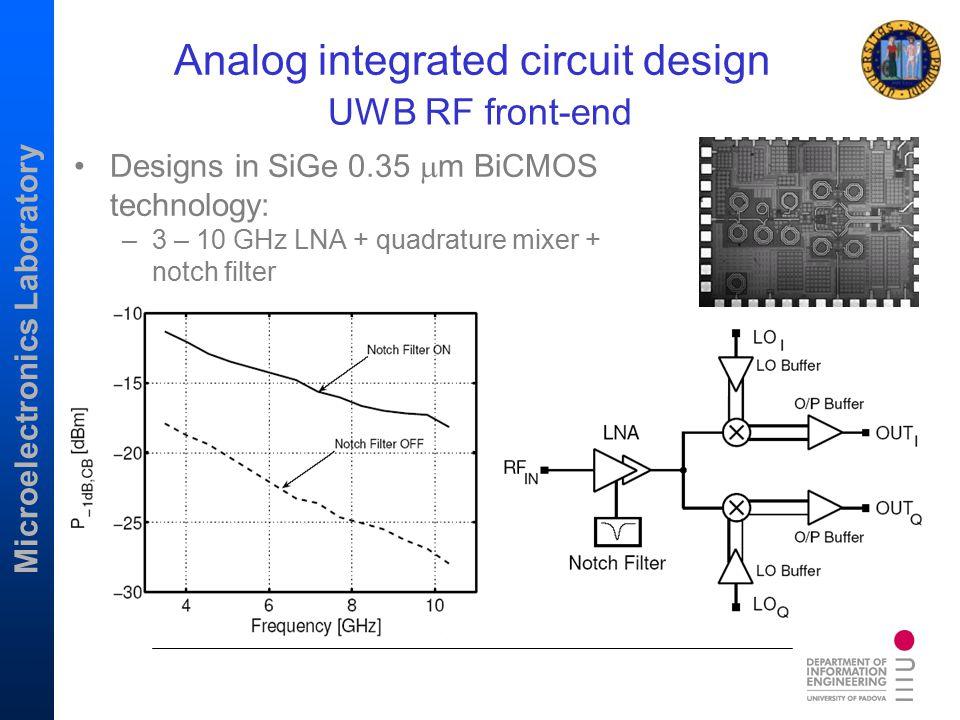Analog integrated circuit design