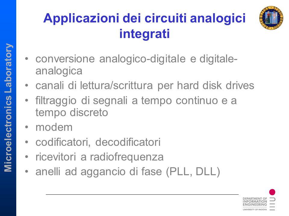Applicazioni dei circuiti analogici integrati