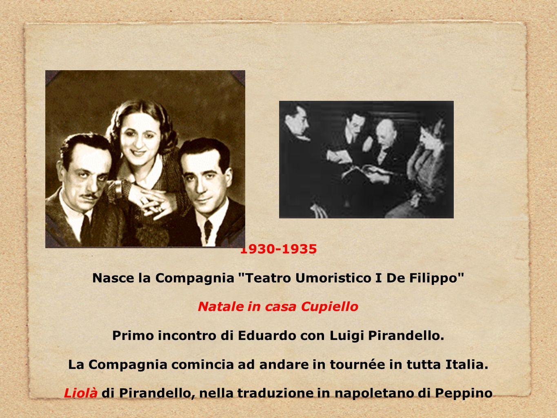Nasce la Compagnia Teatro Umoristico I De Filippo