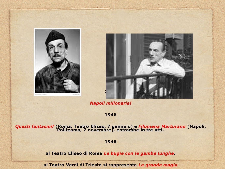 al Teatro Eliseo di Roma Le bugie con le gambe lunghe.