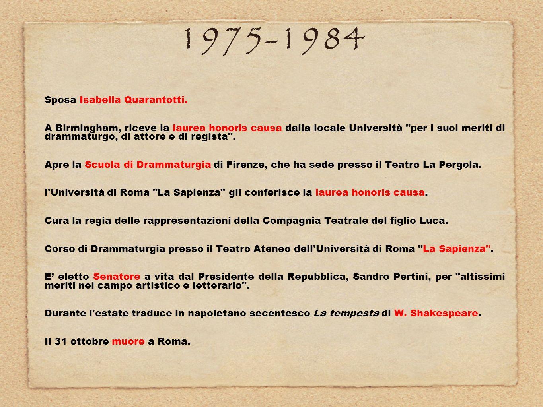 1975-1984 Sposa Isabella Quarantotti.