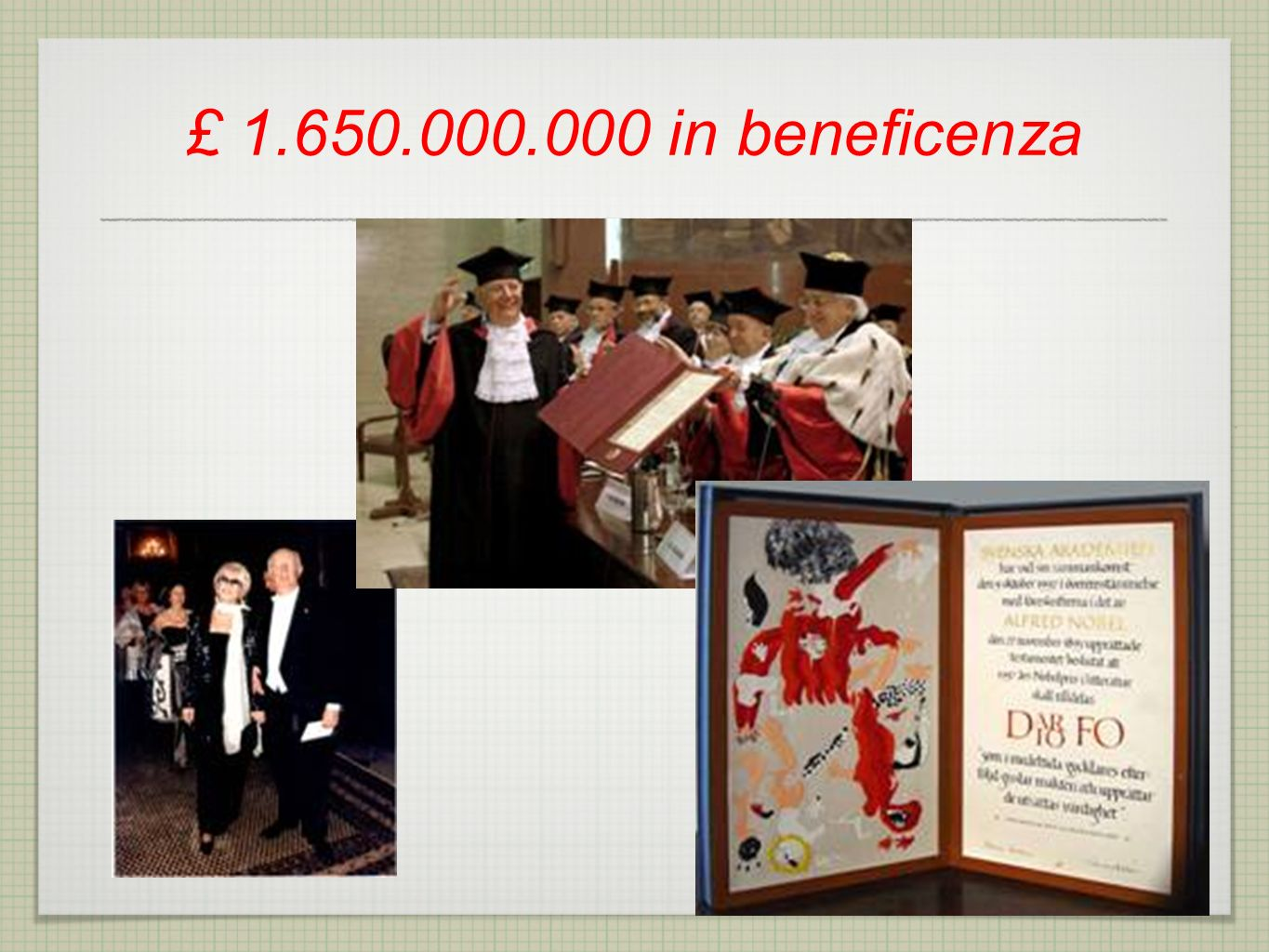 £ in beneficenza