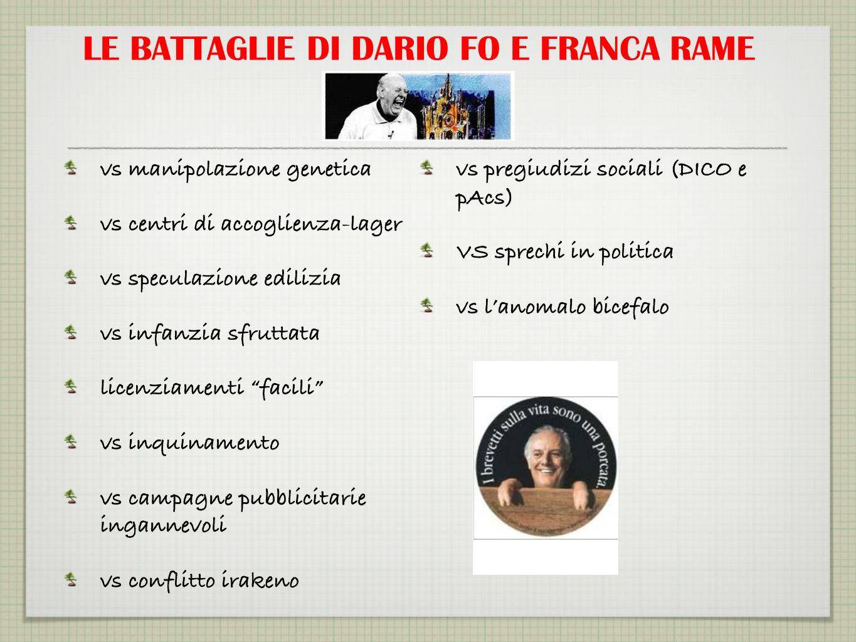 LE BATTAGLIE DI DARIO FO E FRANCA RAME
