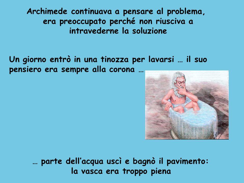 Archimede continuava a pensare al problema,