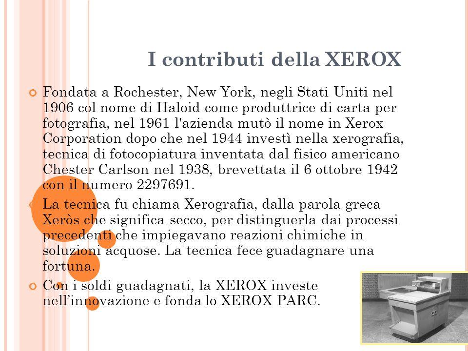 I contributi della XEROX