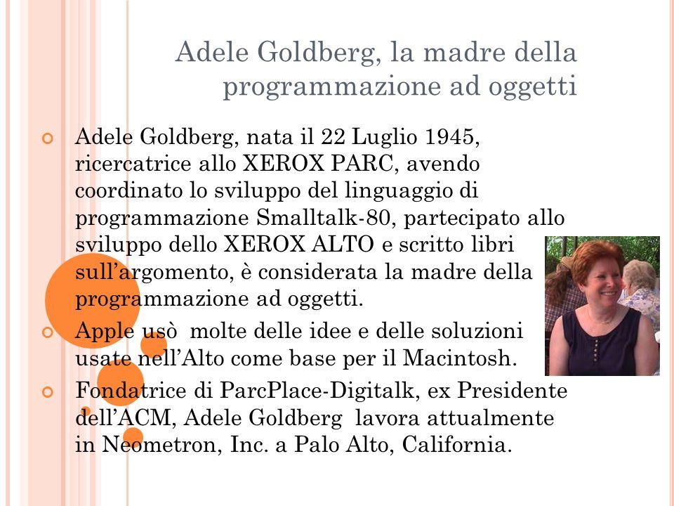 Adele Goldberg, la madre della programmazione ad oggetti