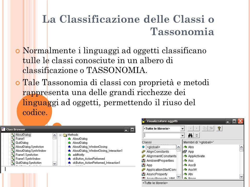 La Classificazione delle Classi o Tassonomia