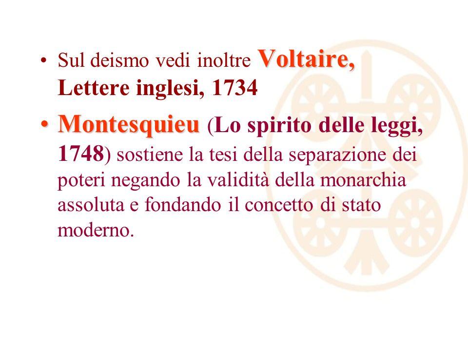 Sul deismo vedi inoltre Voltaire, Lettere inglesi, 1734
