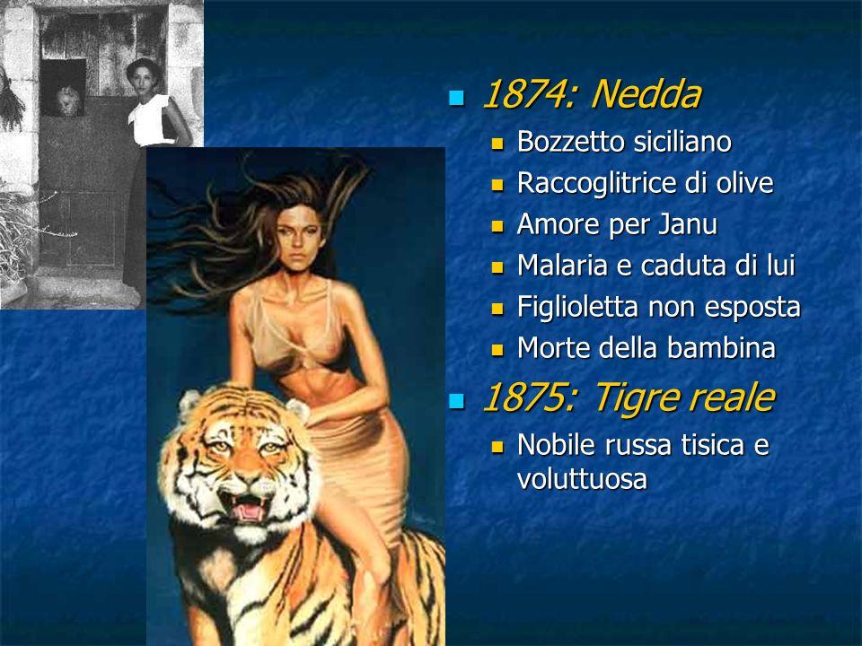 1874: Nedda 1875: Tigre reale Bozzetto siciliano