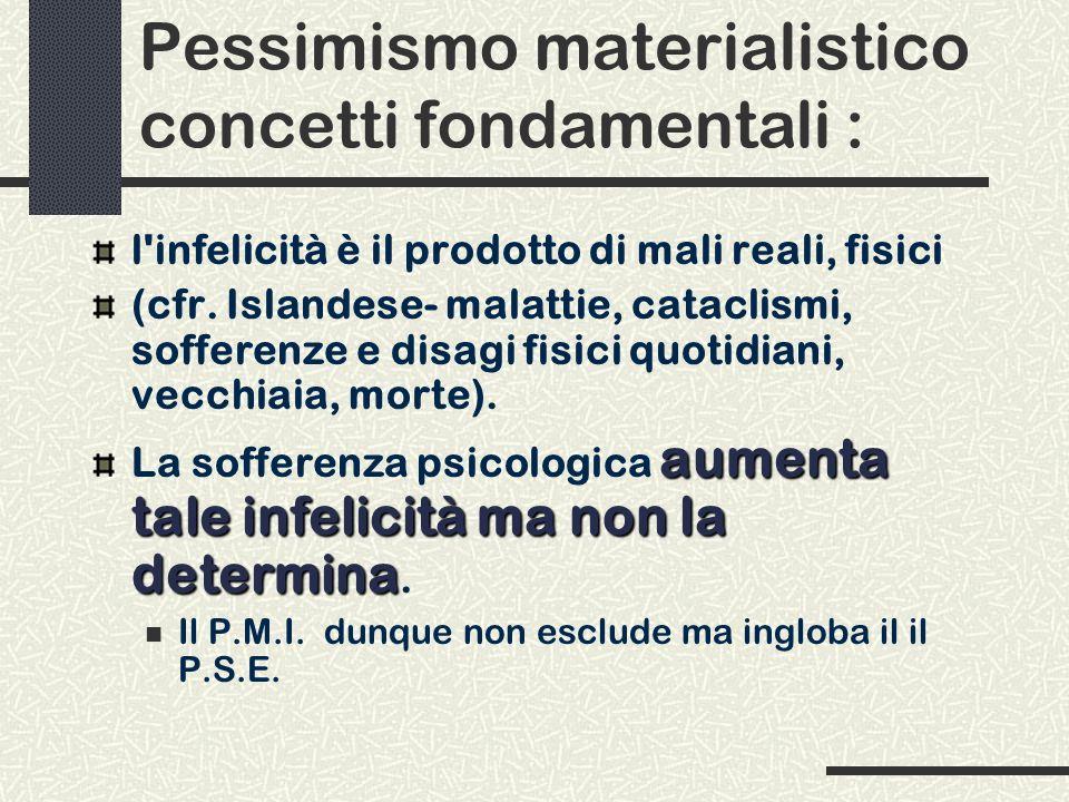 Pessimismo materialistico concetti fondamentali :