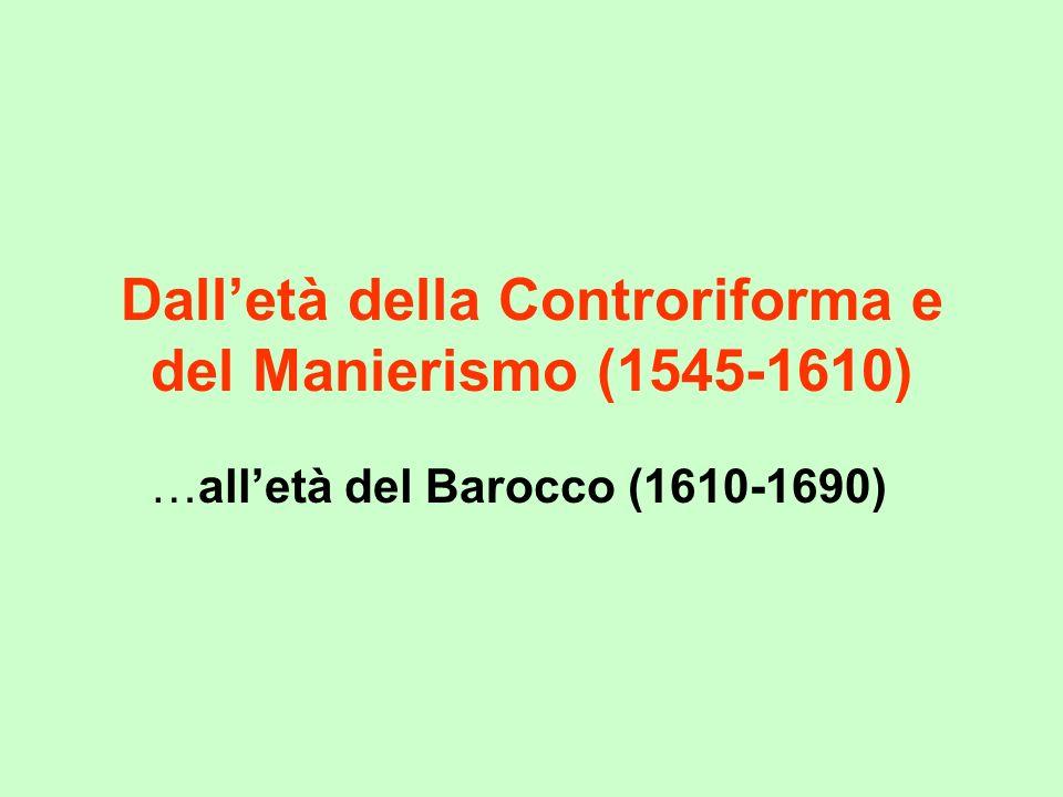 Dall'età della Controriforma e del Manierismo (1545-1610)
