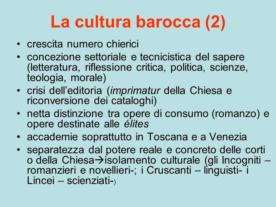 La cultura barocca (2) crescita numero chierici