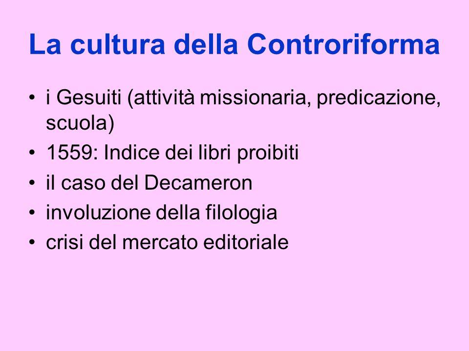 La cultura della Controriforma